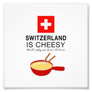 Swiss Fondue Funny Photographic Print