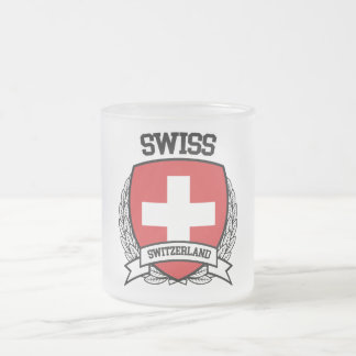 Swiss Frosted Glass Coffee Mug