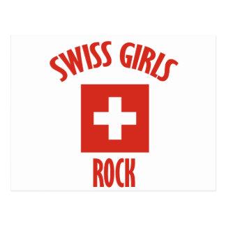 Swiss girls rock DESIGNS Postcard