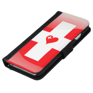 Swiss glossy flag iPhone 6 wallet case