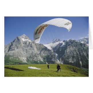 Swiss Greetings cards, Grindelwald, Paragliding Card