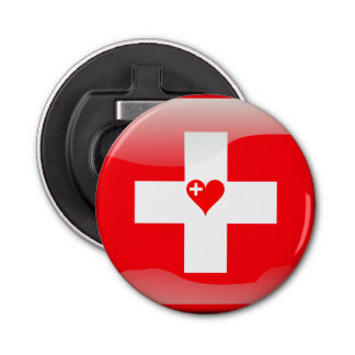 Swiss heart bottle opener