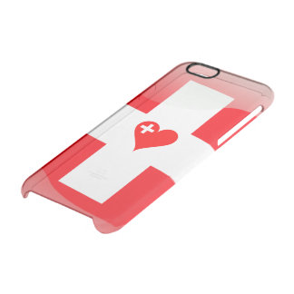 Swiss heart clear iPhone 6/6S case