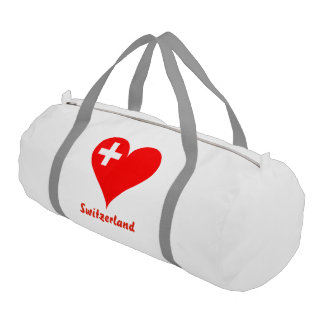 Swiss heart gym bag