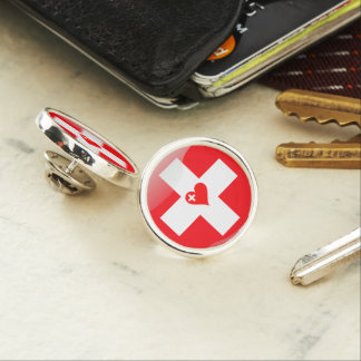 Swiss heart lapel pin