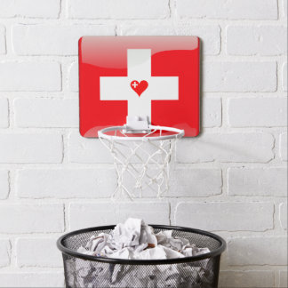 Swiss heart mini basketball hoop