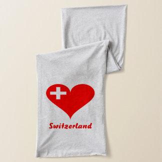Swiss heart scarf