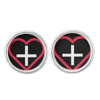 Swiss-inspired Heart Cufflinks