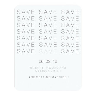 Swiss Modern Save the Date Card