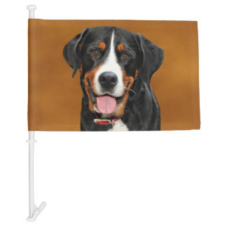 Swiss Mountain Dog Car Flag