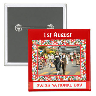 Swiss National Day, 1st August, Button