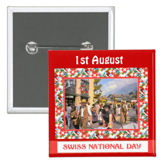 Swiss National Day 1st August Button