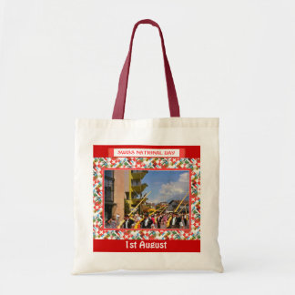 Swiss National Day, 1st August, Interlaken parade Budget Tote Bag