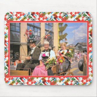 Swiss National Day, 1st August, Interlaken parade Mousepad