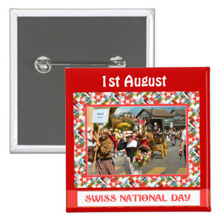 Swiss National Day 1st August Pin