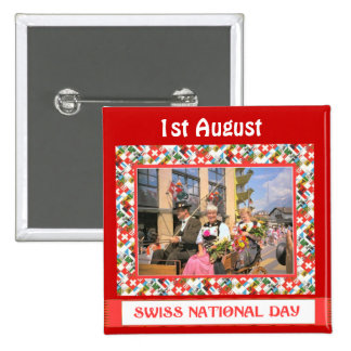 Swiss National Day 1st August Pins