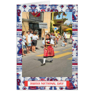 Swiss National Day Greetings Card
