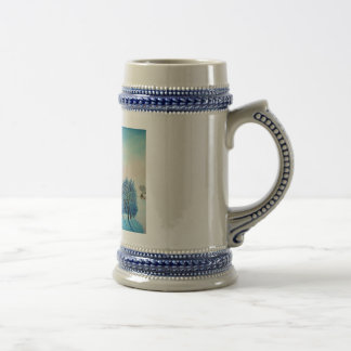 Swiss Opus Blue Christmas Coffee Mugs