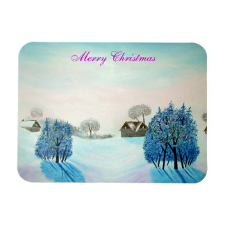 Swiss Opus Blue Christmas Magnet