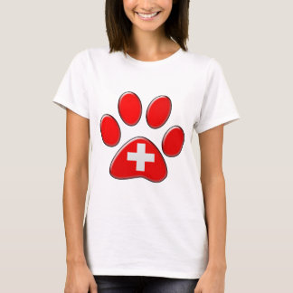 Swiss patriotic cat T-Shirt