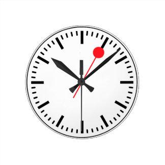 Swiss wall clocks - Swiss railway wall clock ...