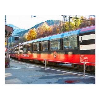 Swiss railways; Hassliberg station Postcard