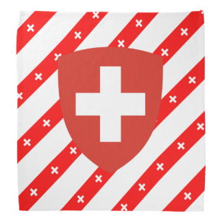 Swiss stripes flag bandana