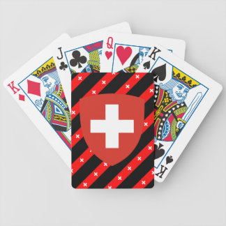 Swiss stripes flag bicycle playing cards