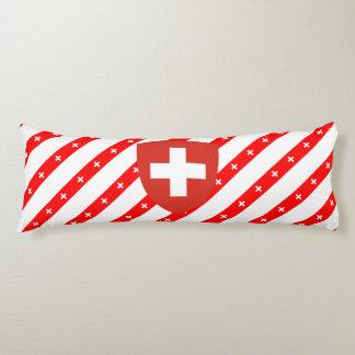 Swiss stripes flag body cushion