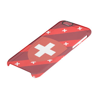Swiss stripes flag clear iPhone 6/6S case