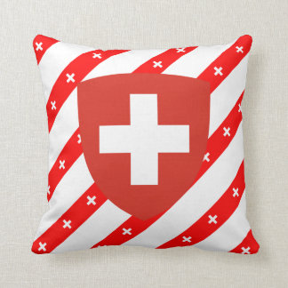 Swiss stripes flag cushion