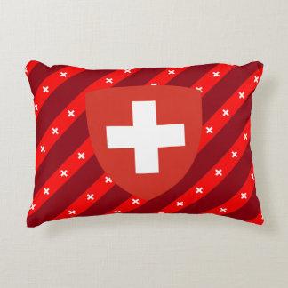 Swiss stripes flag decorative cushion