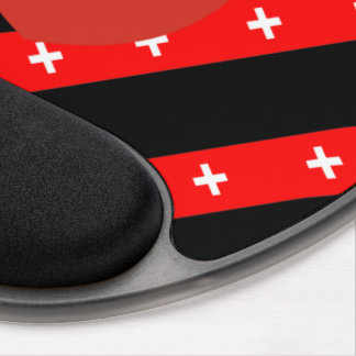 Swiss stripes flag gel mouse pad