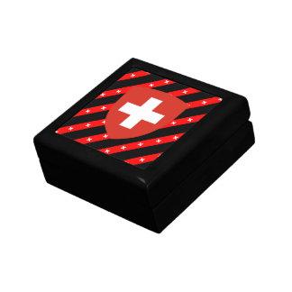 Swiss stripes flag gift box