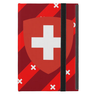 Swiss stripes flag iPad mini case