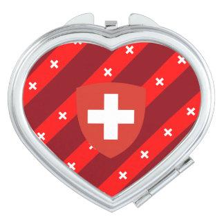 Swiss stripes flag makeup mirrors