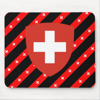 Swiss stripes flag mouse pad