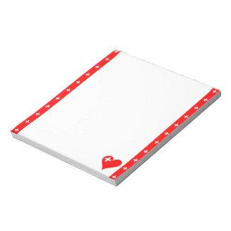 Swiss stripes flag notepad