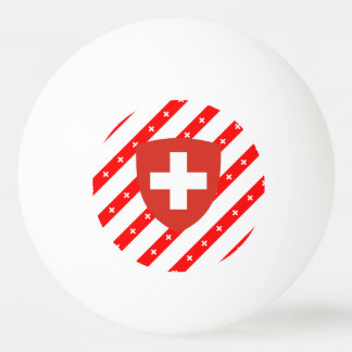 Swiss stripes flag ping pong ball