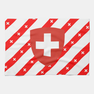 Swiss stripes flag tea towel