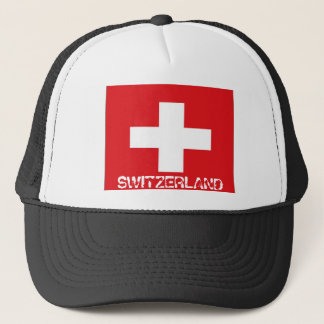 Swiss switzerland flag trucker hat
