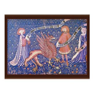 Swiss Tapestry Fragment By Schweizer Tapisseur Postcard