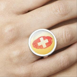 Swiss touch fingerprint flag