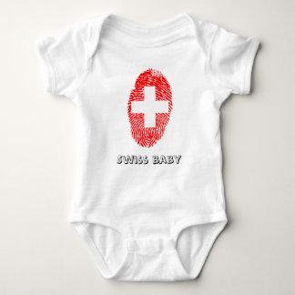 Swiss touch fingerprint flag baby bodysuit