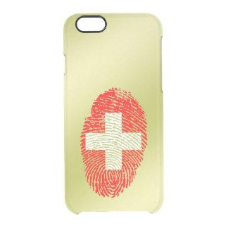 Swiss touch fingerprint flag clear iPhone 6/6S case