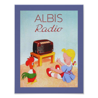 Swiss Vintage Radio Ad Image for Albis Radios Poster