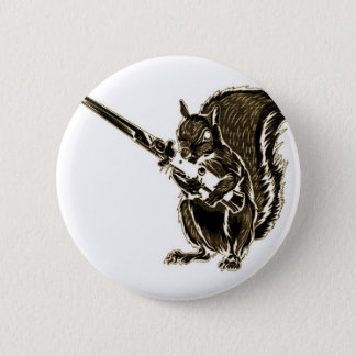 Switchy the Squirrel 6 Cm Round Badge