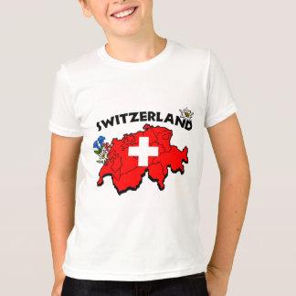 Switz Map Kids Ringer T-Shirt