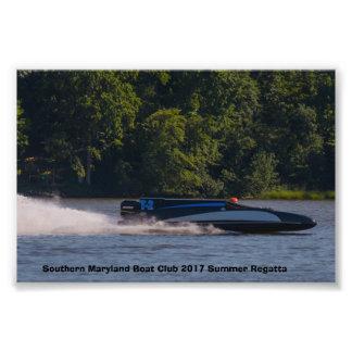 Switzer Wing Vintage Race Boat Photo Print
