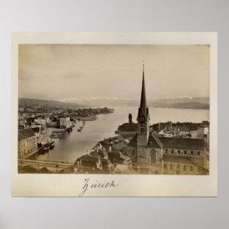 Switzerland 1908, Zurich Poster